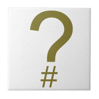 Etiqueta/marca índice amarillas de la pregunta azulejo cuadrado pequeño
