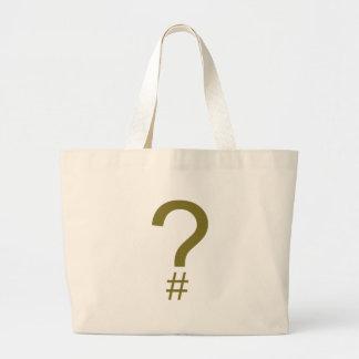 Etiqueta/marca índice amarillas de la pregunta bolsa tela grande