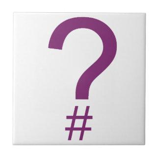 Etiqueta/marca índice púrpuras de la pregunta azulejo cuadrado pequeño