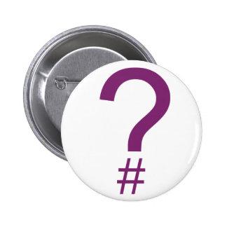 Etiqueta/marca índice púrpuras de la pregunta pins