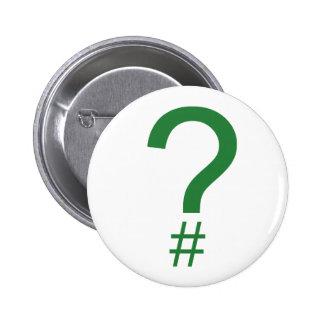 Etiqueta/marca índice verdes de la pregunta pins
