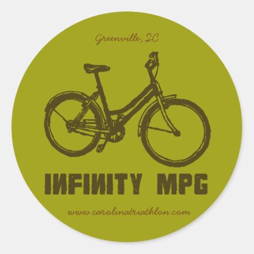 Etiqueta marrón del INFINITO MPG,
