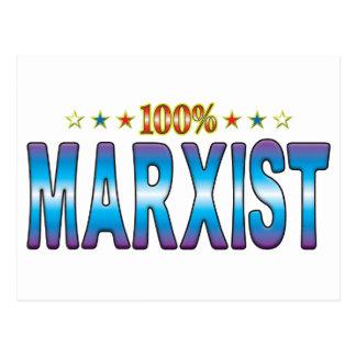 Etiqueta marxista v2 de la estrella postal