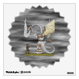 Etiqueta mecánica de la pared del dragón