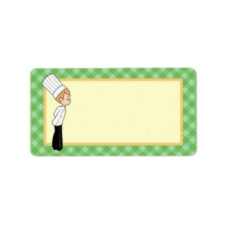 Etiqueta media de encargo personalizada de la coci etiquetas de dirección