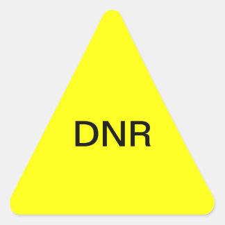 Etiqueta médica de la carta de DNR