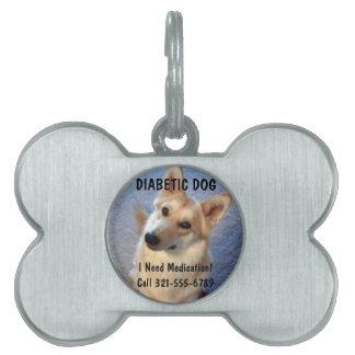 Etiqueta médica de la identificación de la alarma  placas de mascota