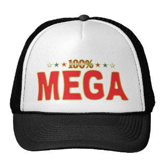 Etiqueta mega de la estrella gorros bordados