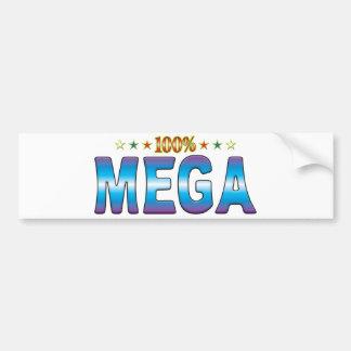 Etiqueta mega v2 de la estrella pegatina para auto