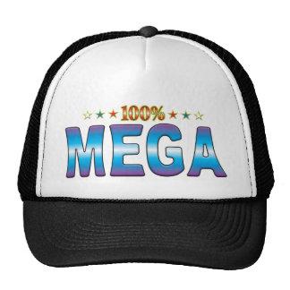 Etiqueta mega v2 de la estrella gorra