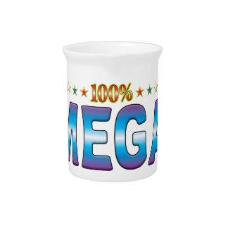 Etiqueta mega v2 de la estrella jarras