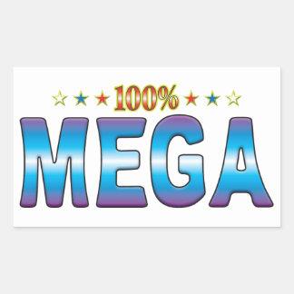 Etiqueta mega v2 de la estrella