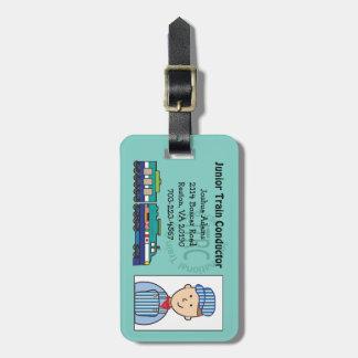 Etiqueta menor del bolso del conductor de tren etiqueta para equipaje