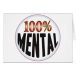 Etiqueta mental tarjeton
