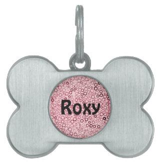Etiqueta minúscula del mascota de las burbujas de  placa de mascota