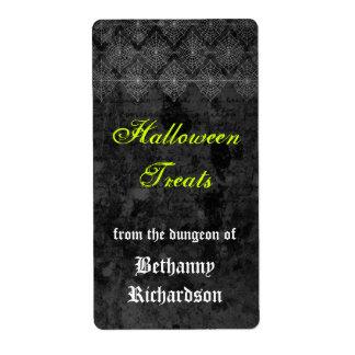 Etiqueta misteriosa de la cocina de Halloween Etiqueta De Envío