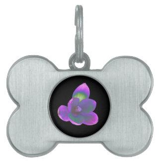 Etiqueta mística del mascota de la flor del azafrá placa mascota