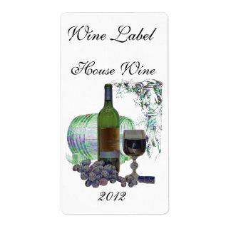 Etiqueta moderna del arte del vino etiqueta de envío