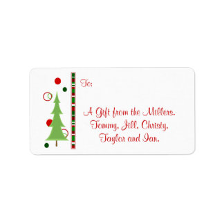 Etiqueta moderna del regalo del navidad etiqueta de dirección