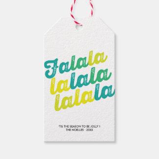 Etiqueta moderna verde del regalo de vacaciones de etiquetas para regalos