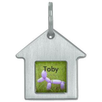 Etiqueta modificada para requisitos particulares placa de mascota