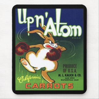 Etiqueta Mousepad del cajón de la zanahoria del vi Alfombrillas De Ratones
