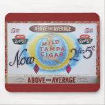 Etiqueta Mousepad del vintage de la caja de cigarr Alfombrilla De Raton