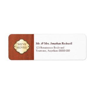 Etiqueta móvil de la invitación de la placa de la etiqueta de remite