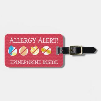Etiqueta múltiple de la alarma de la alergia etiquetas para equipaje