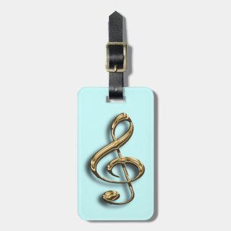 Etiqueta musical del equipaje del símbolo del Clef Etiqueta De Maleta