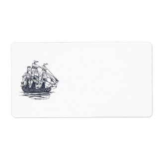 Etiqueta náutica de la nave etiquetas de envío
