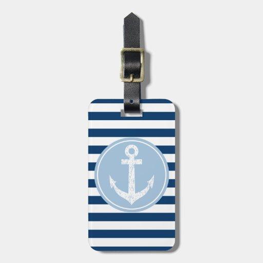 Etiqueta náutica del equipaje del viaje del ancla  etiquetas de maletas