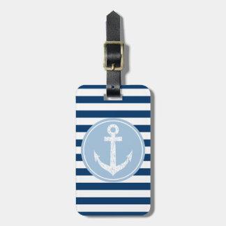 Etiqueta náutica del equipaje del viaje del ancla  etiqueta de maleta