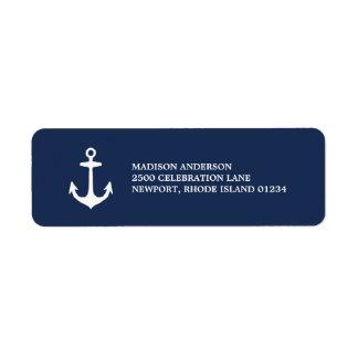 Etiqueta náutica del remite del | etiquetas de remite