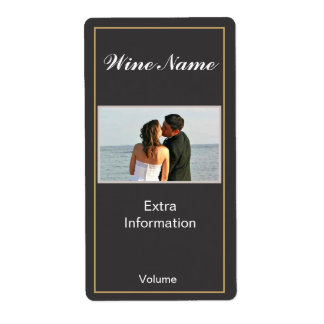 Etiqueta negra clásica del vino etiquetas de envío