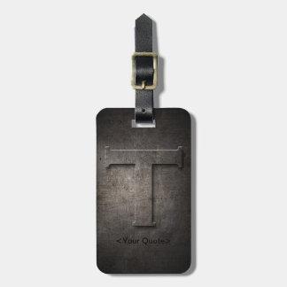 Etiqueta negra de bronce del equipaje del viaje de etiquetas maleta