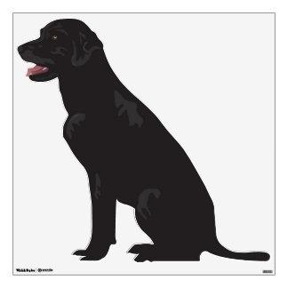 Etiqueta negra de la pared del perro de Labrador Vinilo Adhesivo