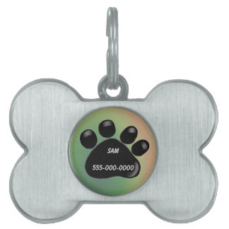 Etiqueta negra del mascota de la impresión de la p placa mascota