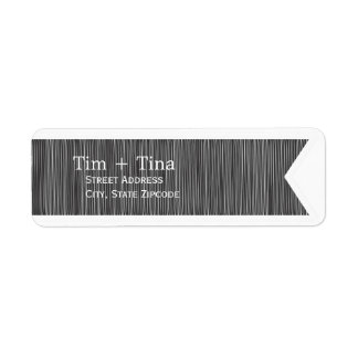 Etiqueta negra del remite de la cinta etiquetas de remite