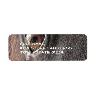 Etiqueta negra del remite del ojo del caballo etiquetas de remite
