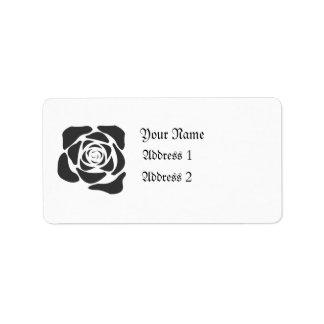 Etiqueta negra del rosa etiquetas de dirección