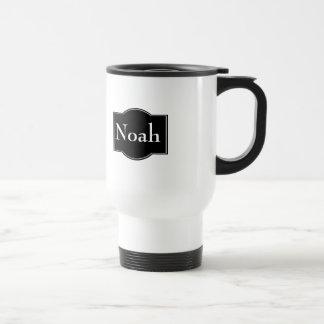 Etiqueta negra personalizada taza térmica