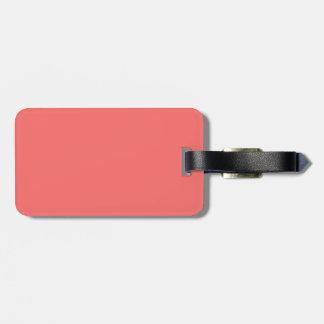 Etiqueta negra y de color salmón del equipaje etiquetas para equipaje