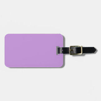 Etiqueta negra y púrpura del equipaje de la lavand etiqueta para maleta