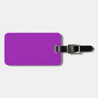 Etiqueta negra y púrpura del equipaje de la lavand etiquetas para maletas