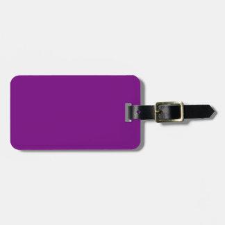 Etiqueta negra y púrpura del equipaje etiquetas de maletas