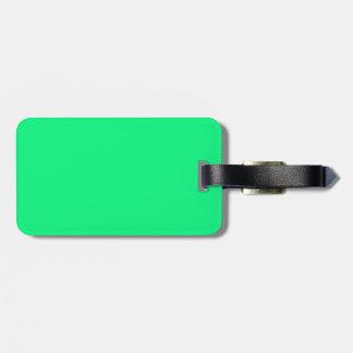 Etiqueta negra y verde del equipaje etiquetas para maletas