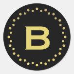 Etiqueta/negro y oro del pegatina de los puntos