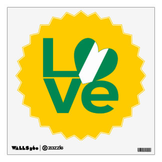 Etiqueta nigeriana de la pared del verde del AMOR Vinilo Decorativo