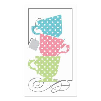 Etiqueta nupcial del favor de la ducha - té plantillas de tarjeta de negocio